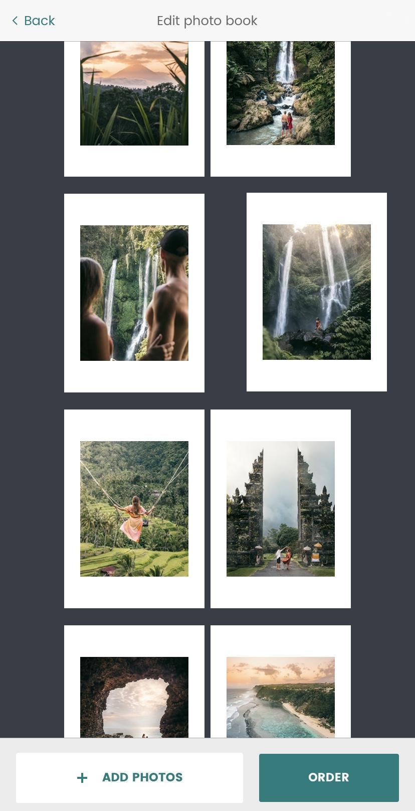 Sort the photos in SubBook