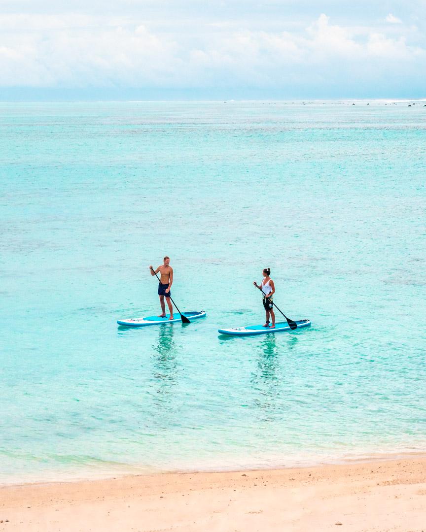 SUP'ing in front of Pacific Resort Rarotonga