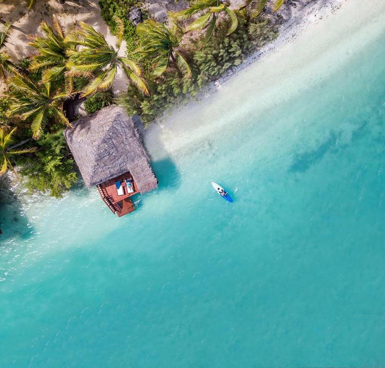 Aitutaki Lagoon Resort's overwater bungalows