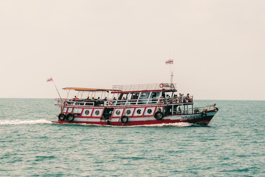 A typical ferry going to Ang Thong National Marine Park