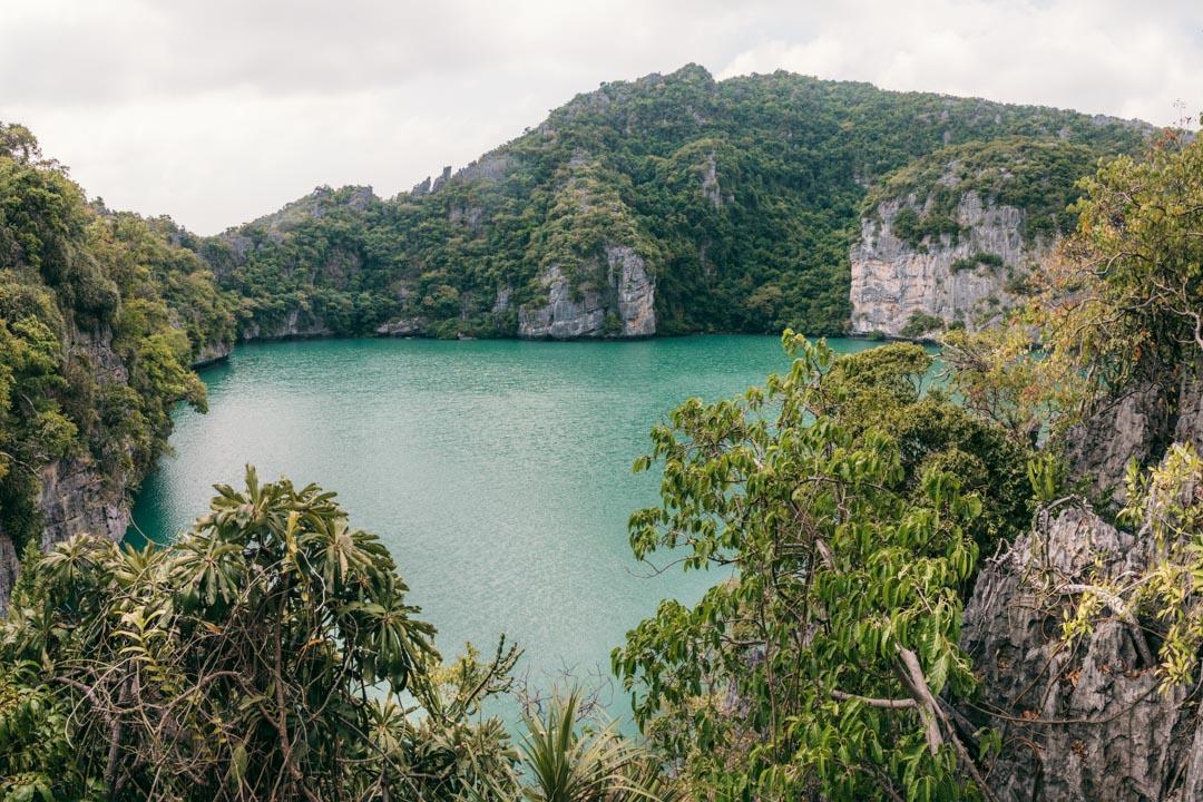 The emerald lake at Koh Mae Ko