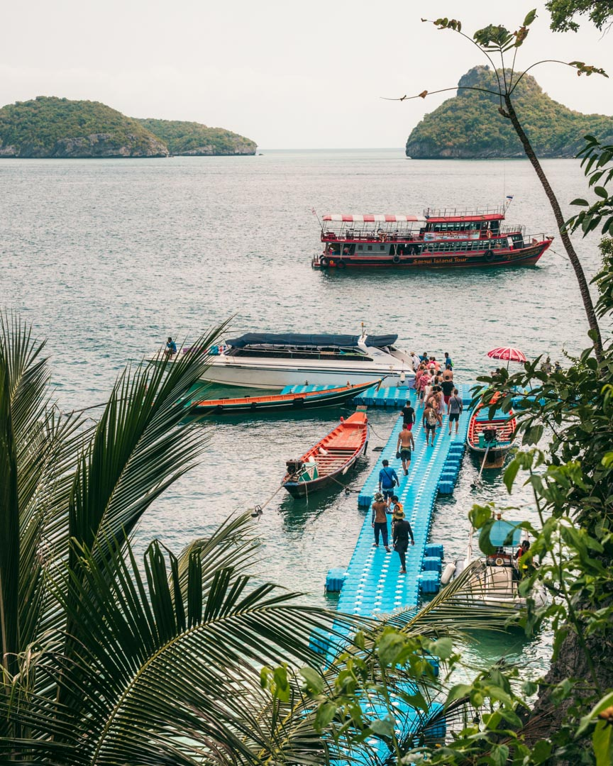 Speedboat or ferry in Ang Thong