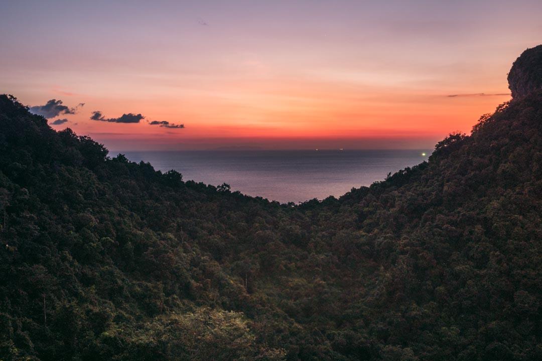 Ang Thong climb at sunset
