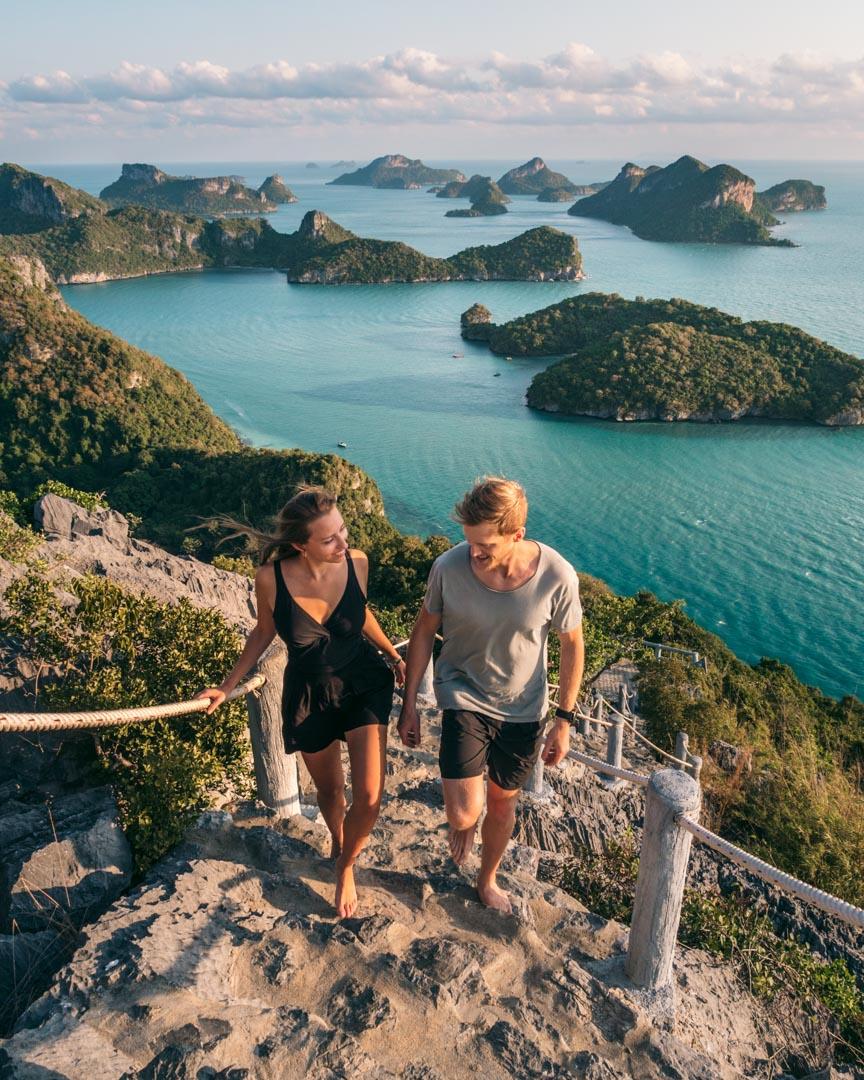 Ang Thong National Marine Park stairs and viewpoint