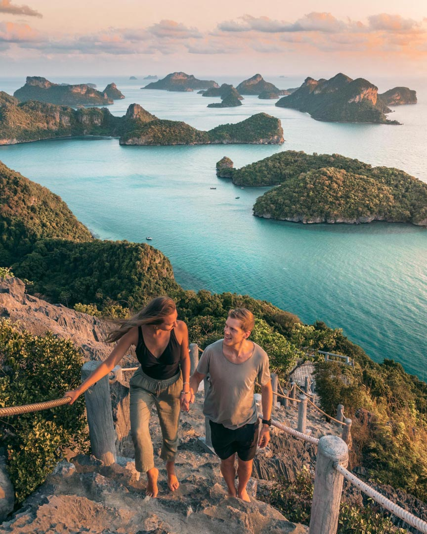 Viewpoint on Koh Wua Talap in Thailand