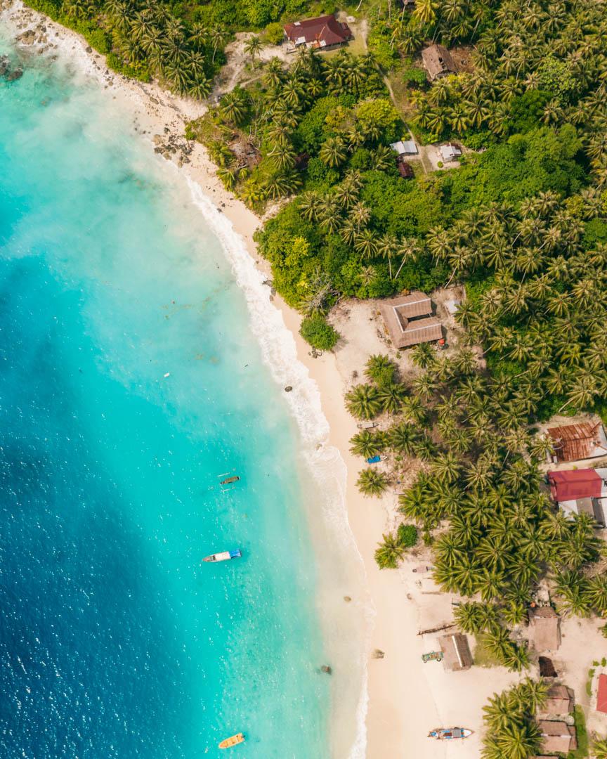 Asu Island drone shot