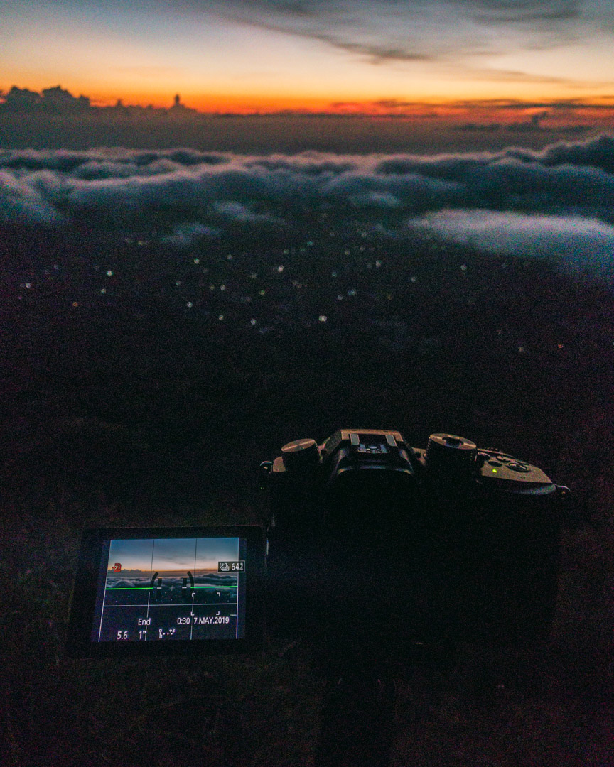 Timelapse from mountaintop during sunrise making stock footage