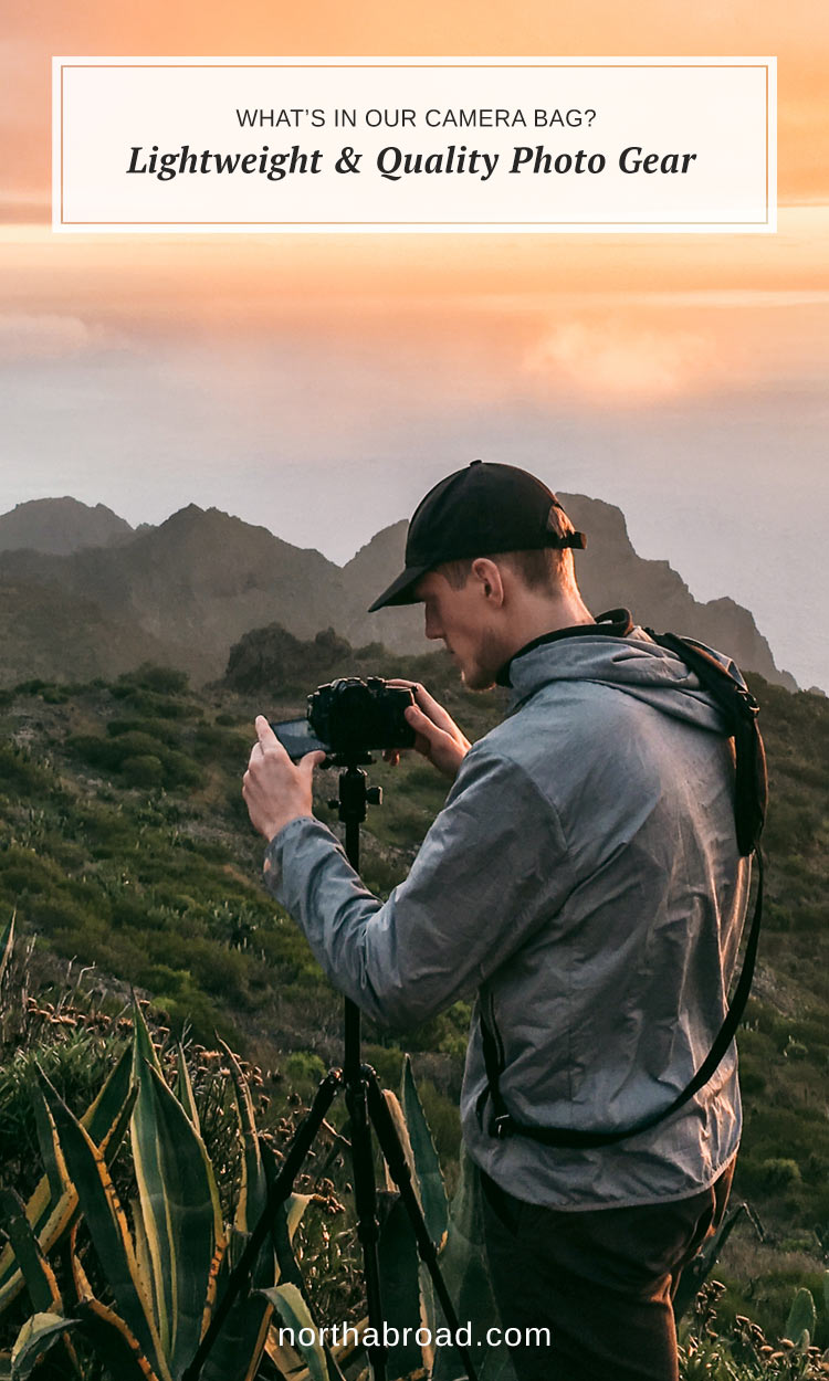 What's in Our Camera Bag? Lightweight Photography Gear for High-Quality Travel Content. What camera, drone and accessories we use to capture life on the road and the reason why. Panasonic GH5, DJI Mavic Pro and much more.