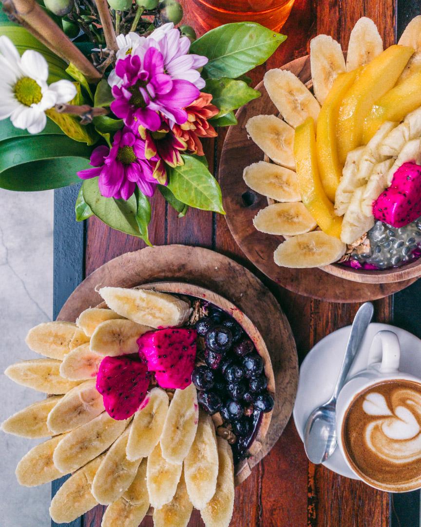 Fruit-filled smoothie bowls