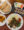 Falafel dish with pita bread