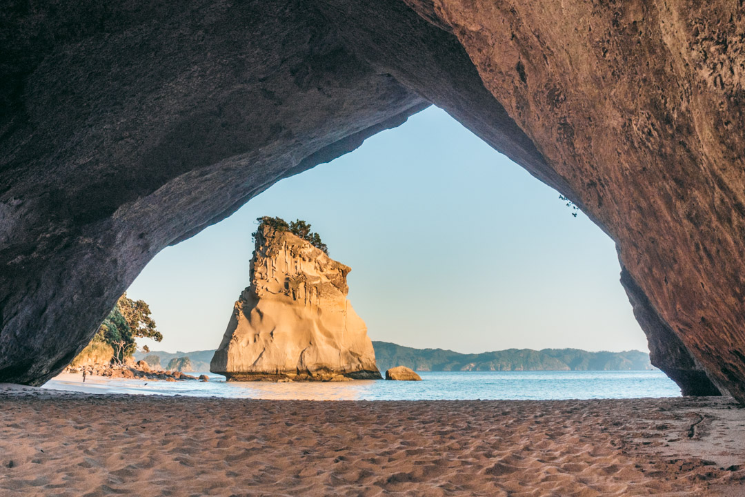 Te Hoho Rock as seen through the arch