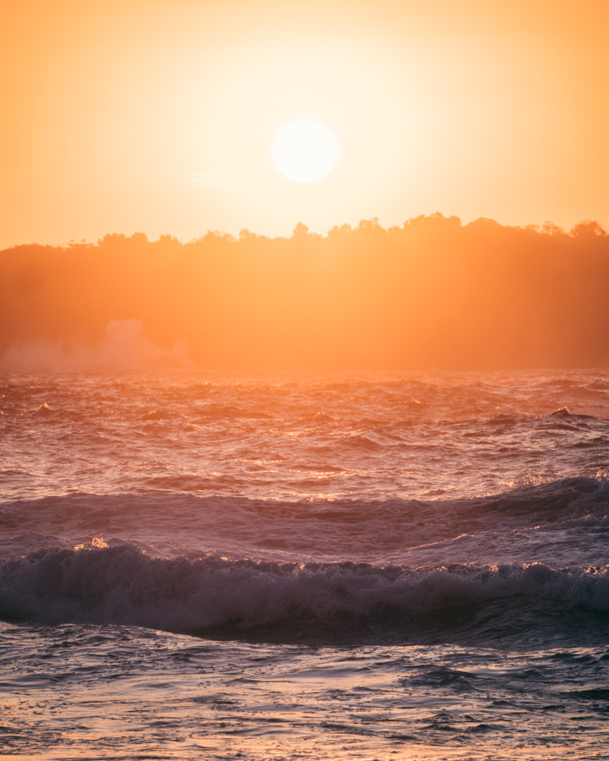Amazing sunset Nusa Penida