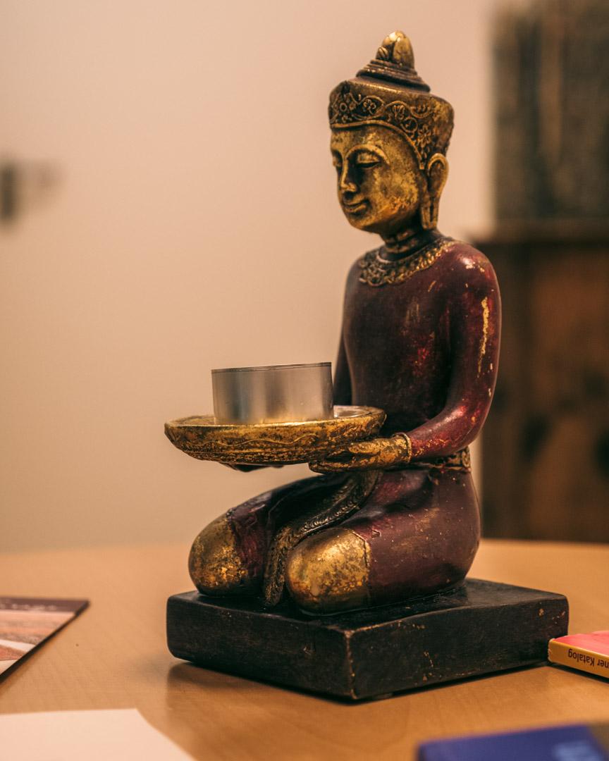 Meditating statue