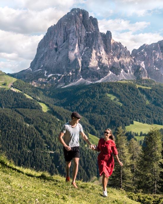 Happy in the Dolomites