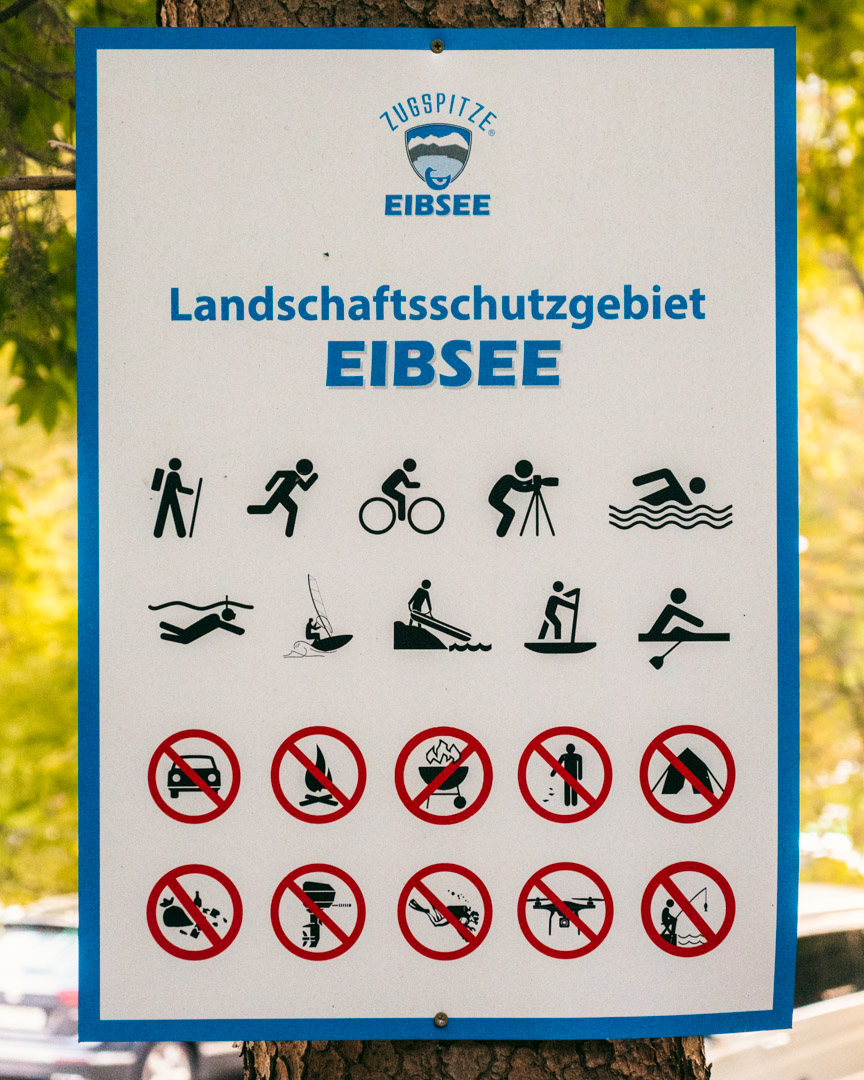Eibsee rules drone camping swimming