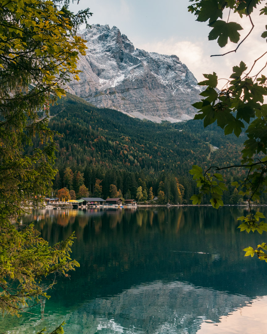 Eibsee in fall
