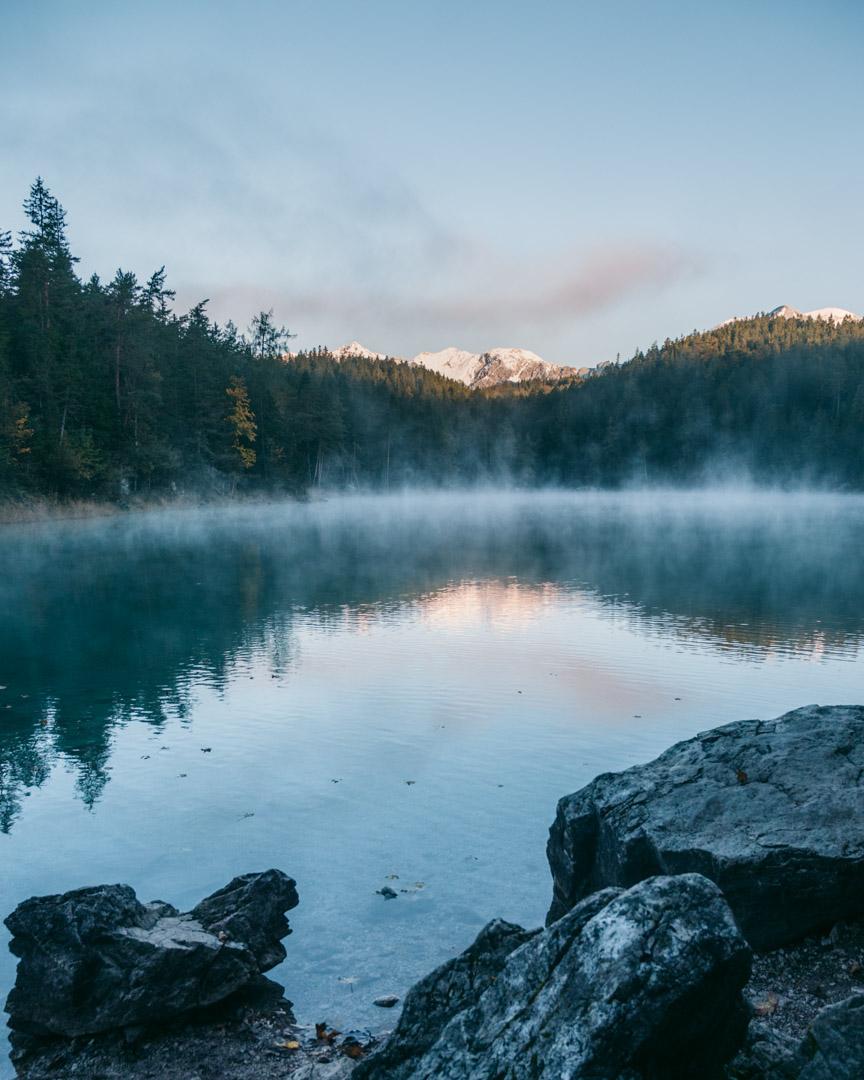 Eibsee morning mist in October