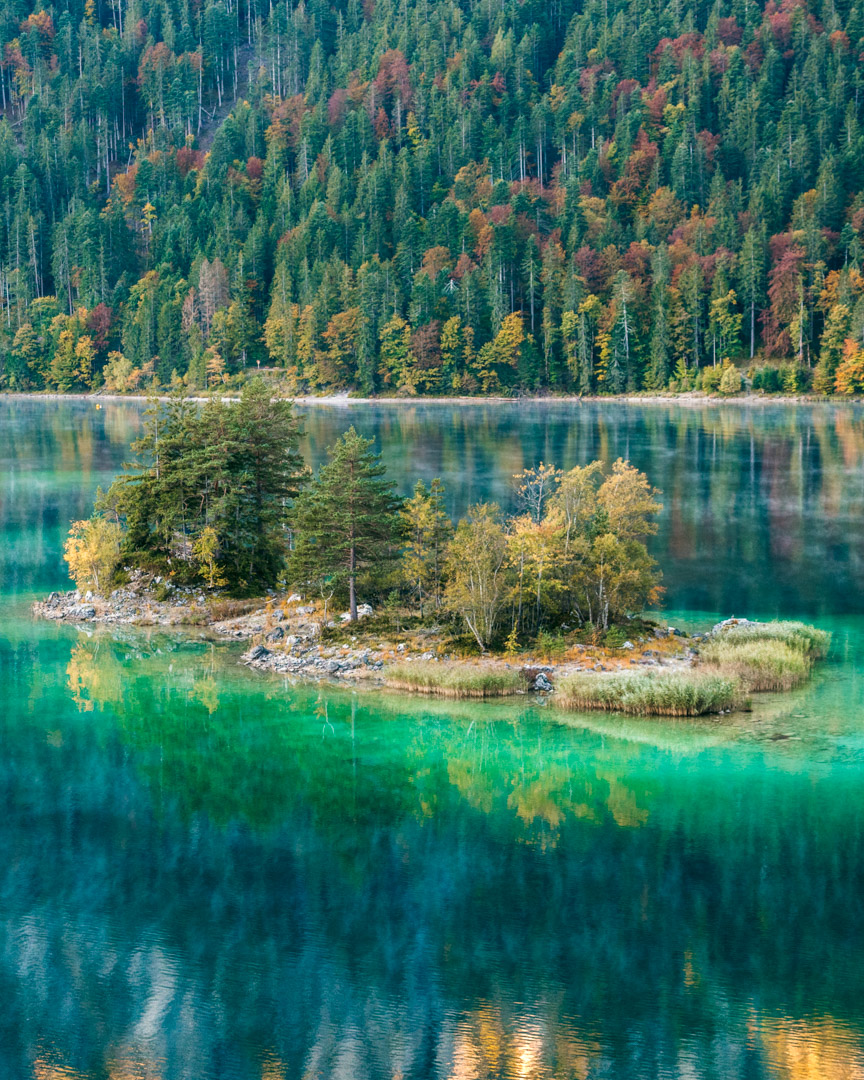 Eibsee's natural beauty