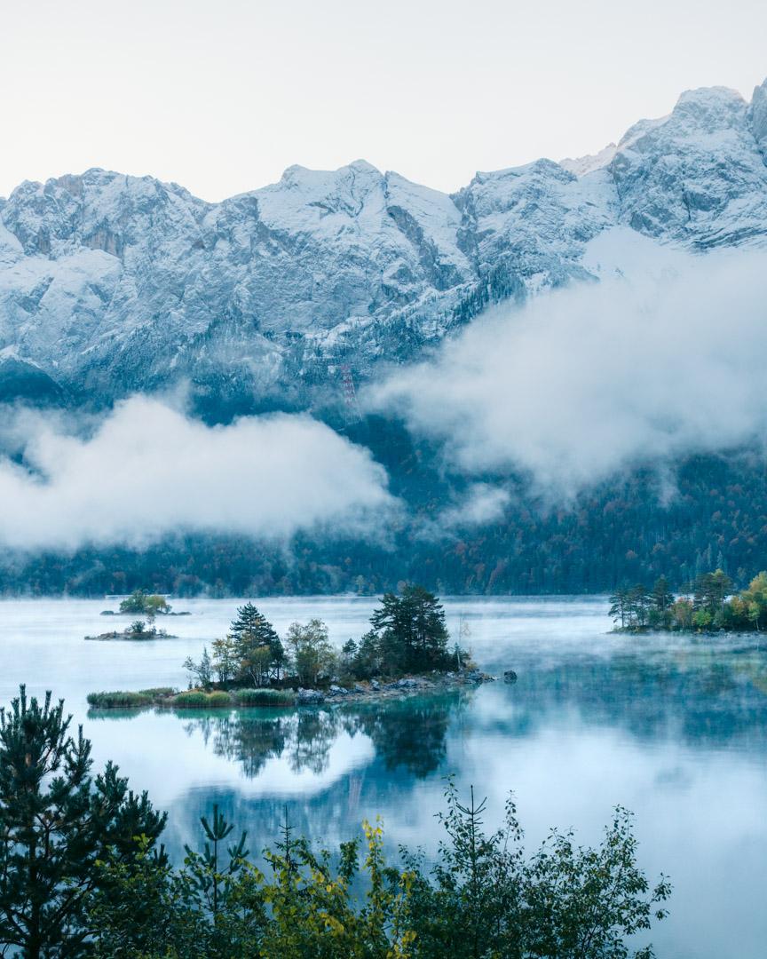 Morning at Lake Eibsee