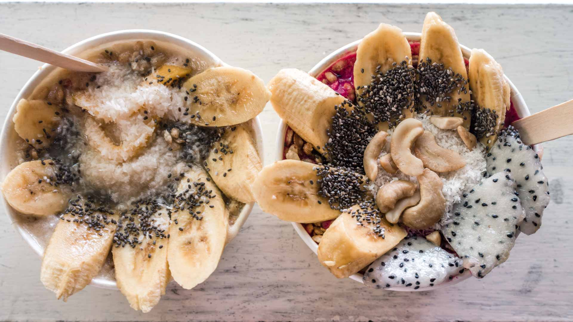 Smoothie bowls from Glow