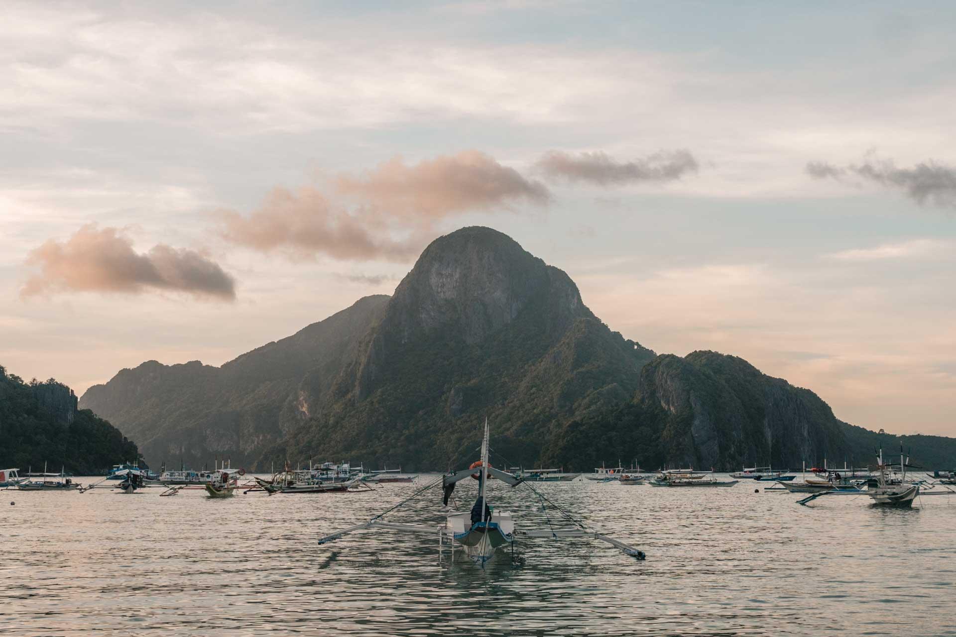 Boat in El Nido Bay