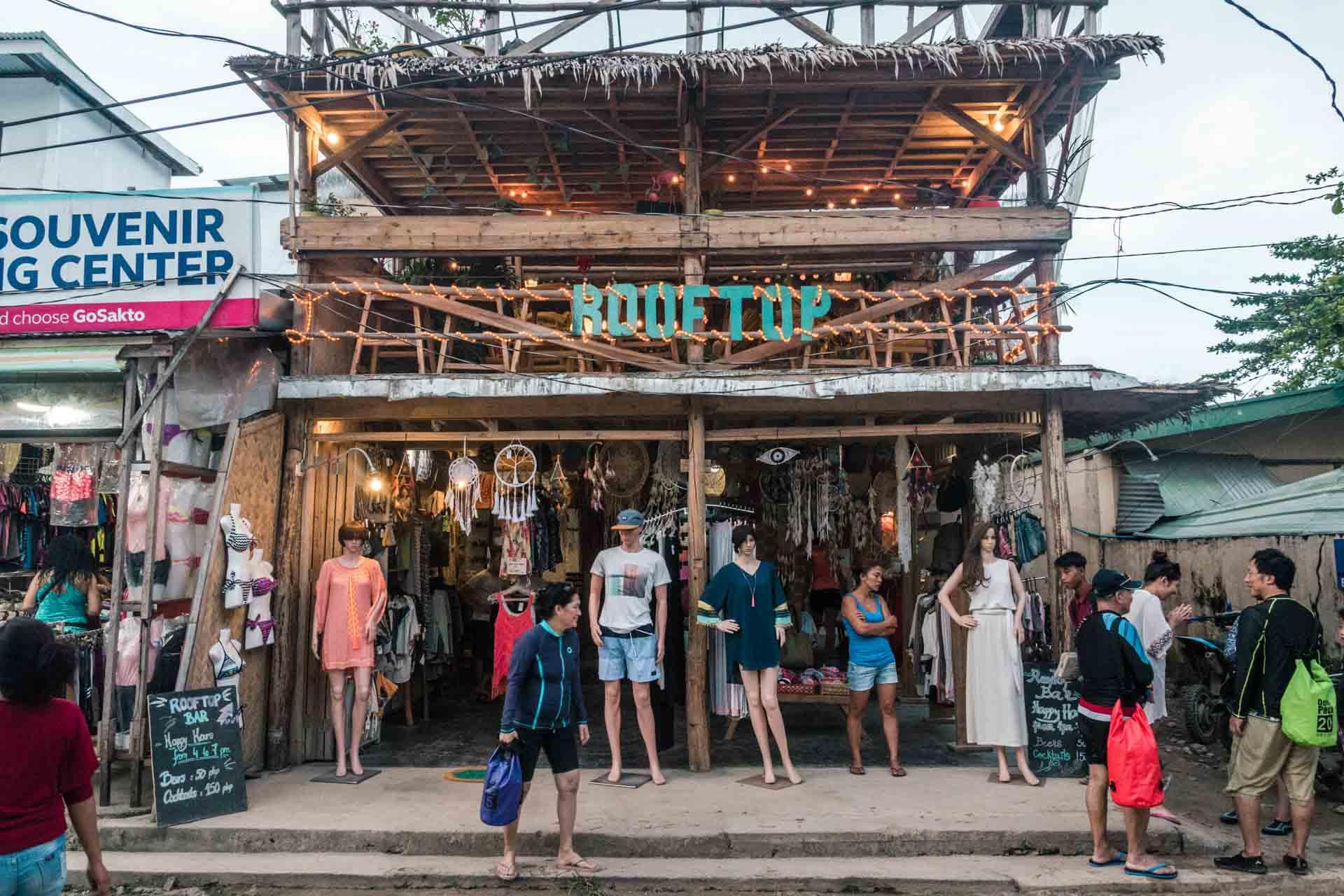 Beachwear shop in El Nido