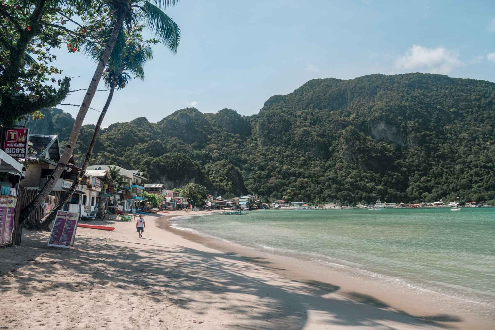 El Nido Beach during the day