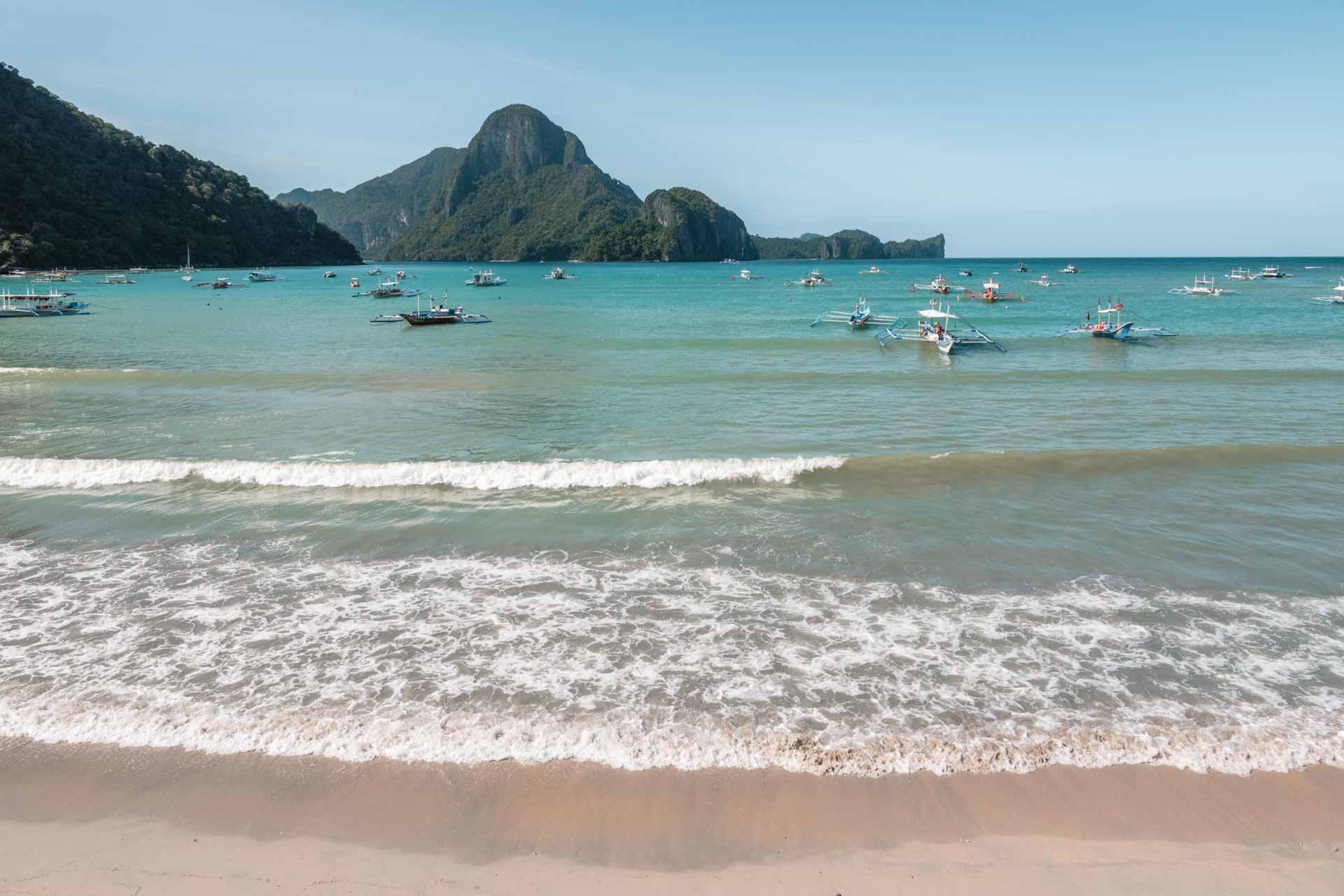 El Nido Beach in the day