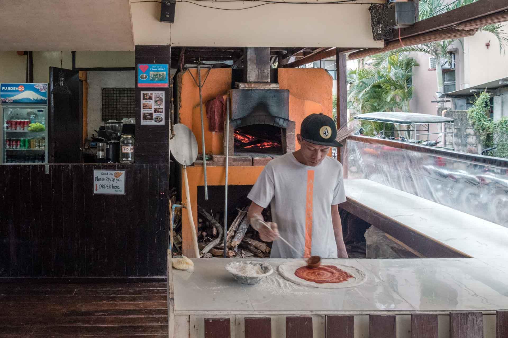 Pizza from Altrove in El Nido