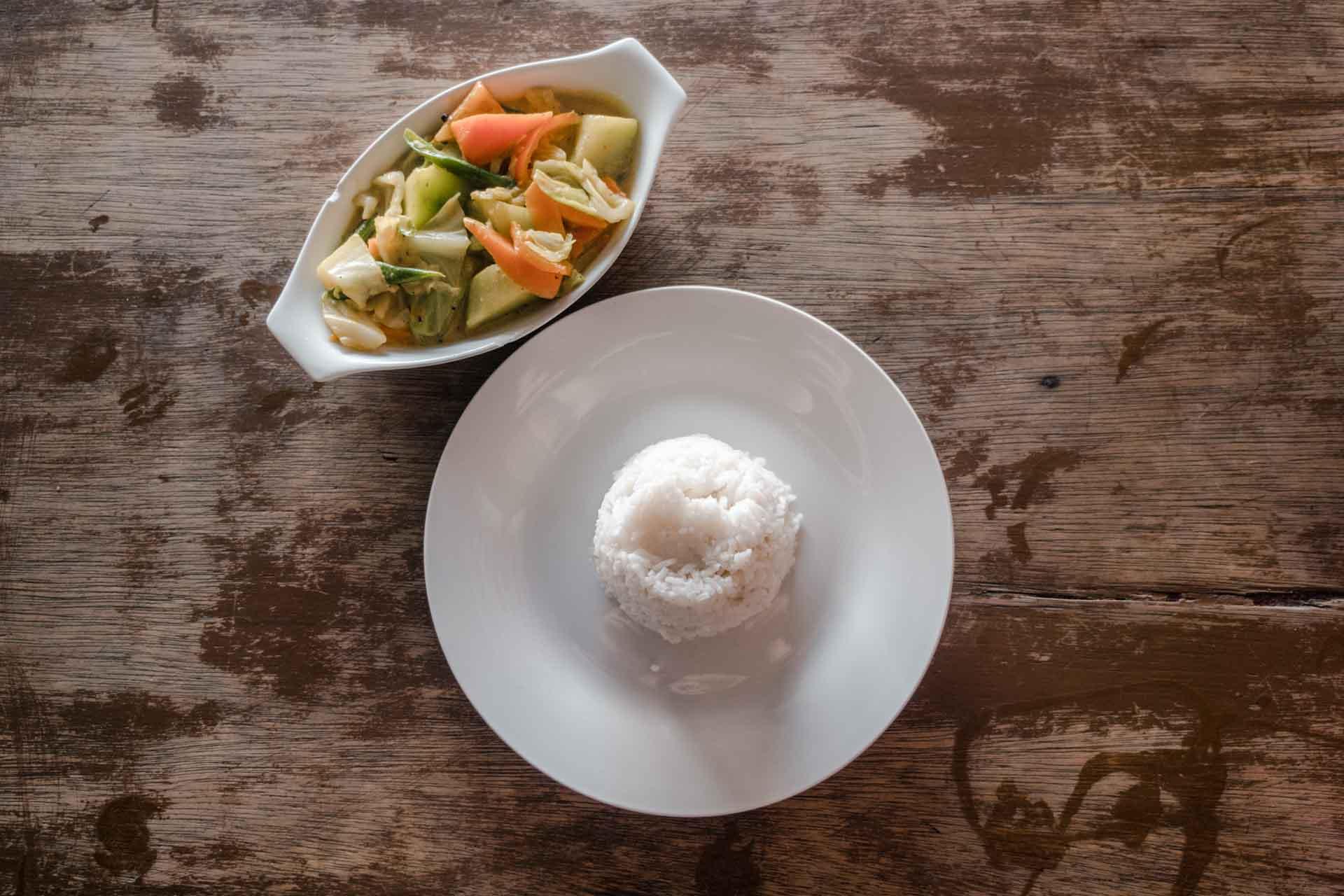 Vegetarian coconut carry