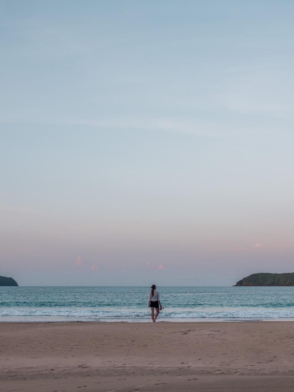 Victoria on Nacpan Beach at dusk