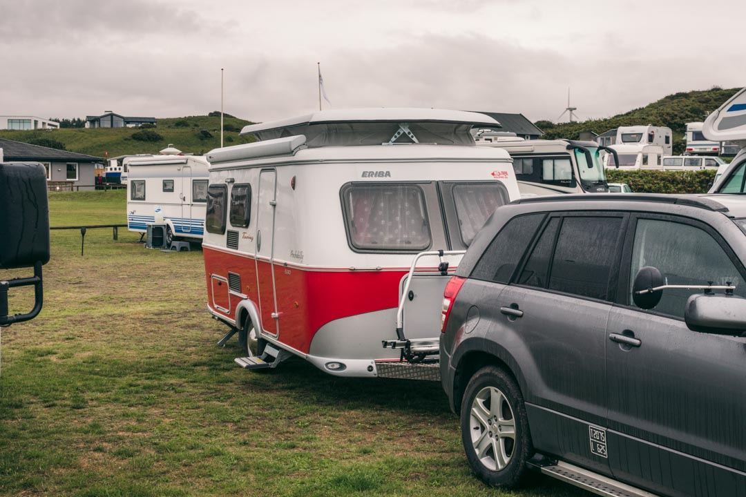 Eriba caravan size with car
