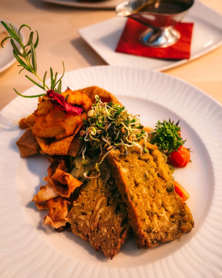 Vegan dishes at Biohotel Garmischer Hof
