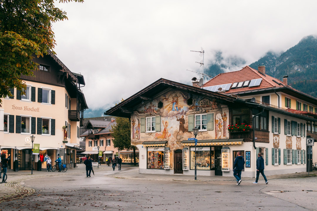 The town centre of Garmisch-Partenkirchen