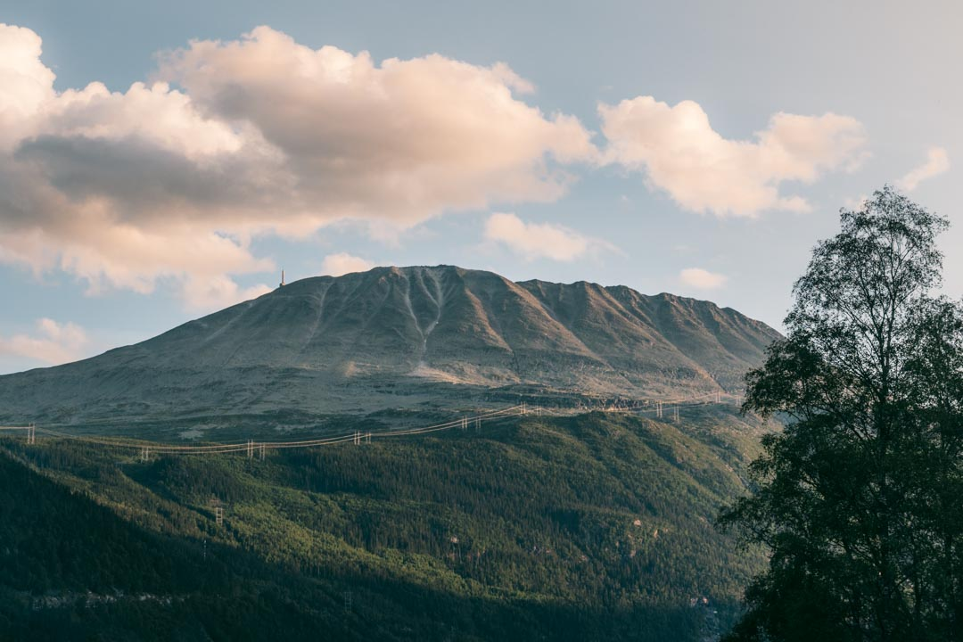 Gaustatoppen seen from Rjukan