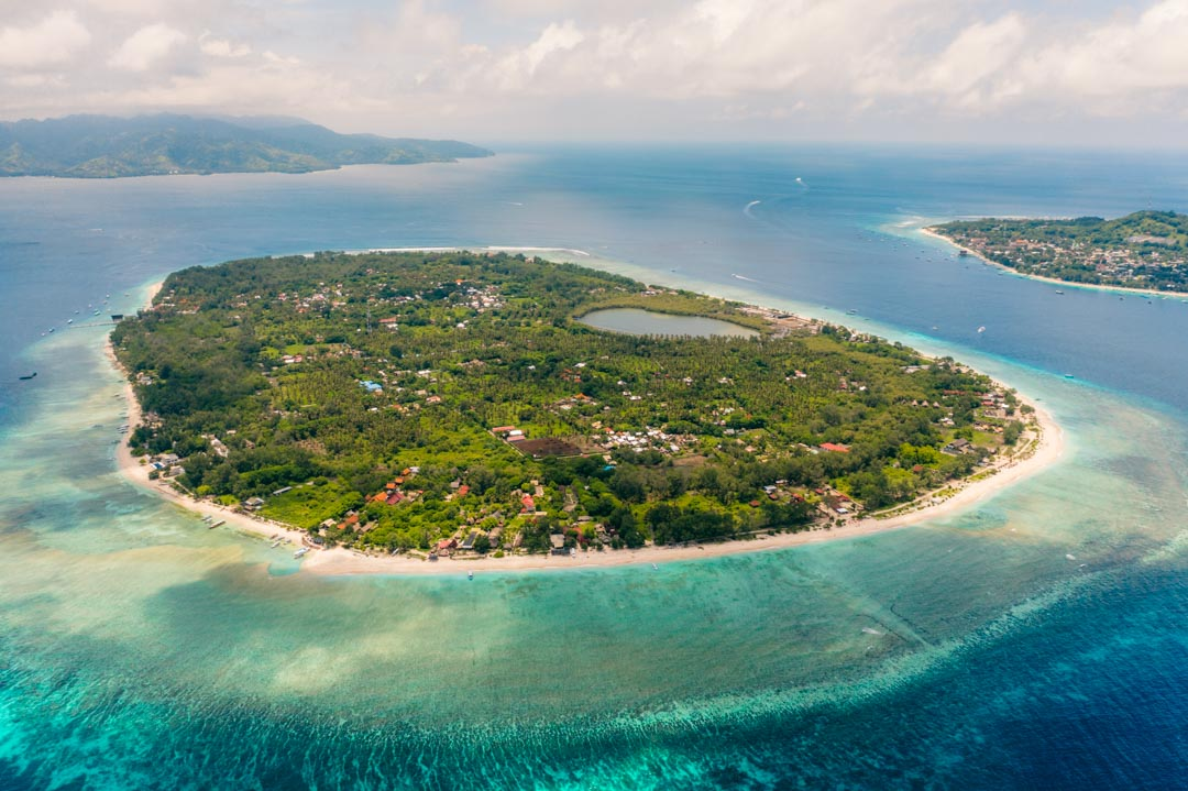 Gili Meno from above
