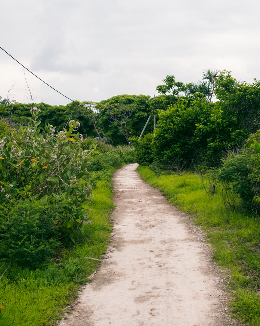 Road on Gili Meno
