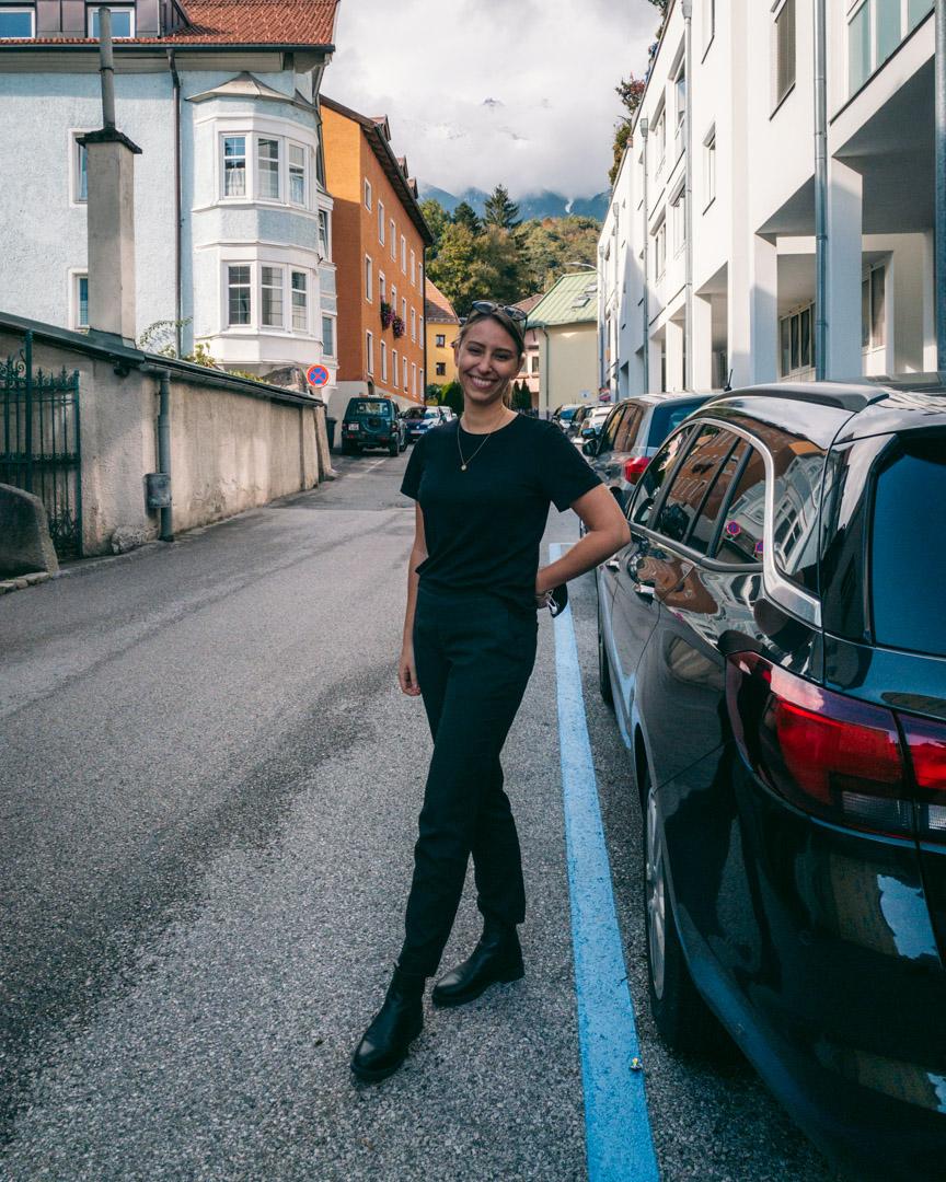 Street parking Innsbruck