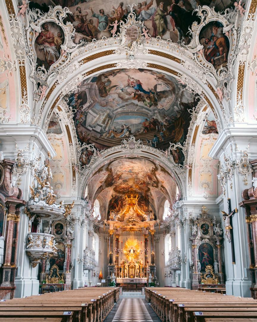 Inside Wilten Abbey Basilica