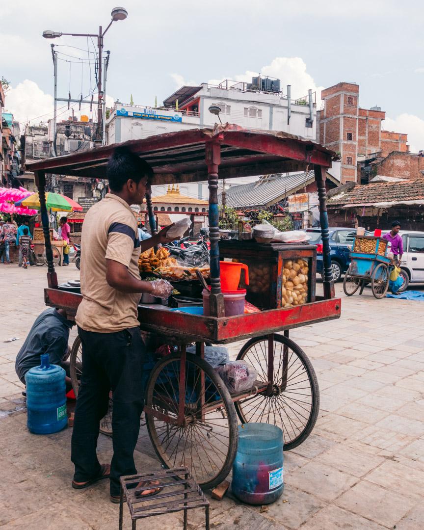 Vegan street stall samosas