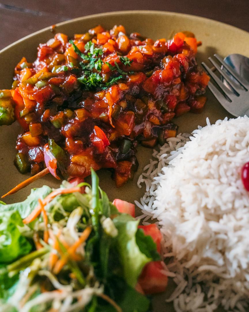 Stir fry in Kathmandu