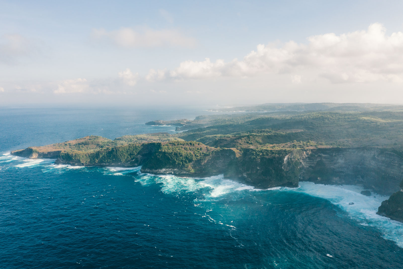 Nusa Penida landscape from Kelingking