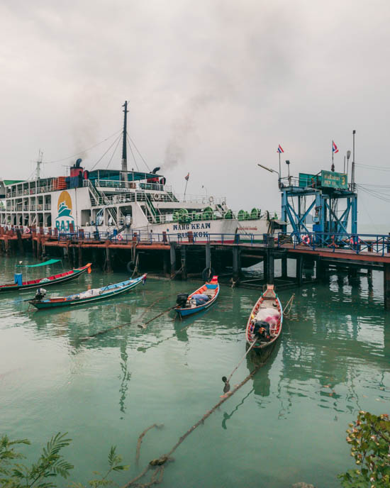 Taking the ferry is a very straightforward business. Wherever you are in Thailand, you'll easily find a travel agent willing to help you buy a ticket