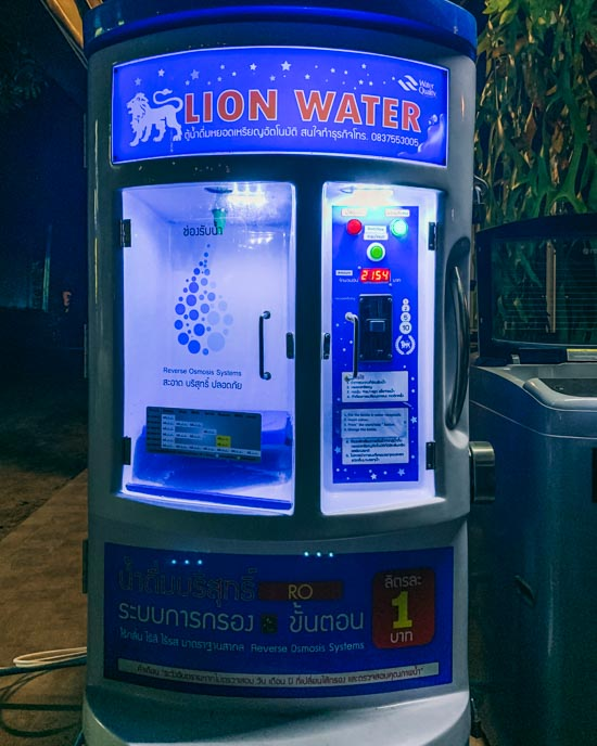 1 baht for 1 litre of clean water seems fair