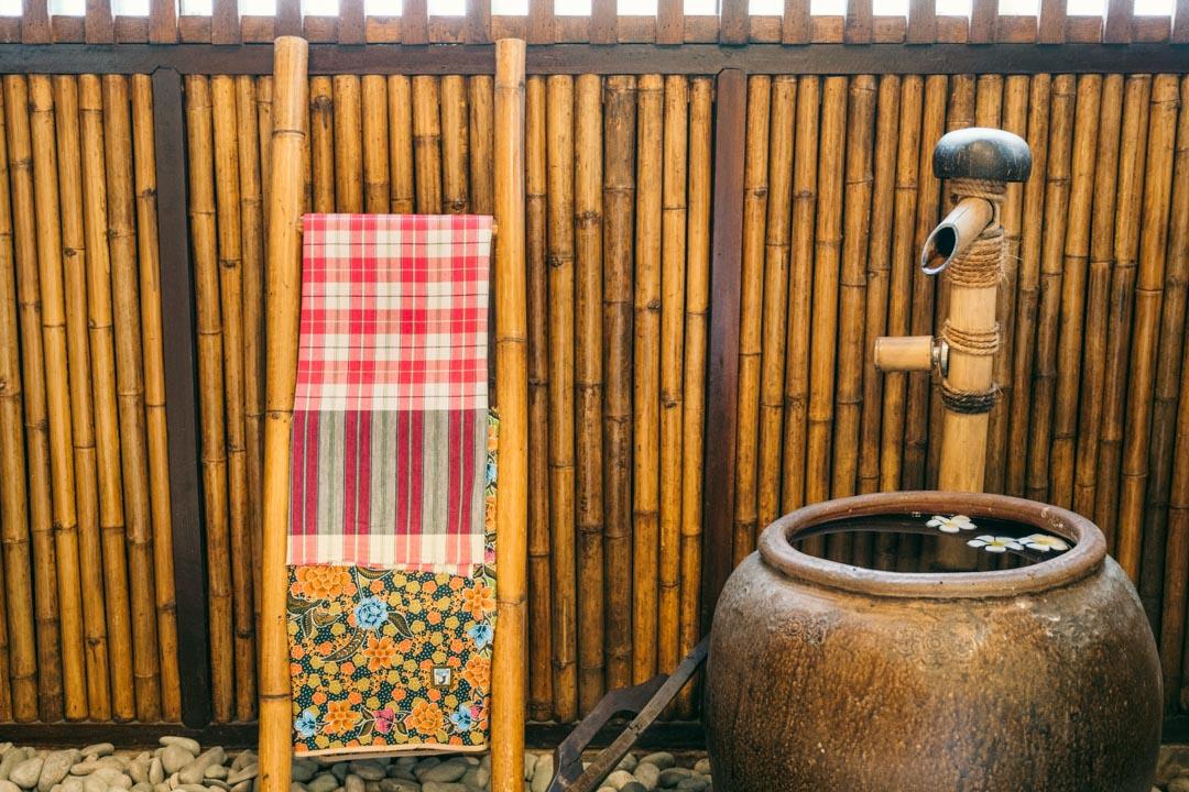 Thai bath and sarongs