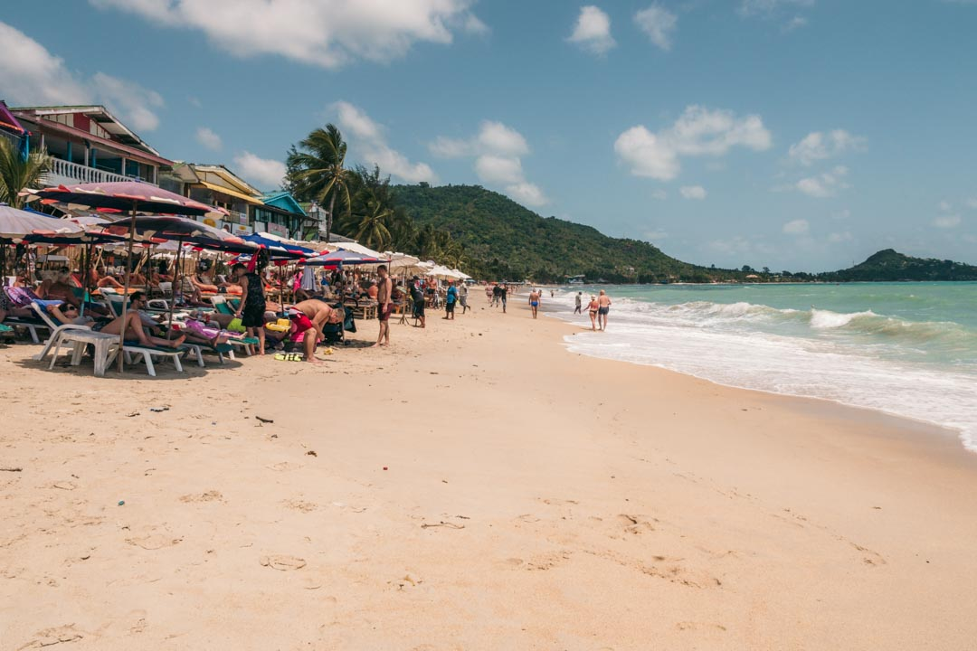 Lamai Beach on Koh Samui