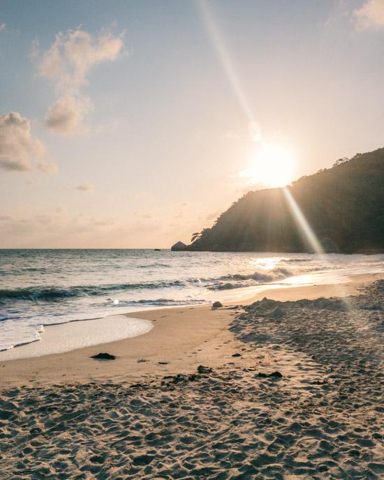Sunrise at Silver Beach on Koh Samui