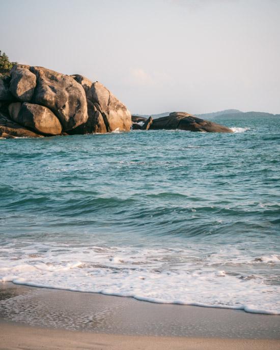 Silver Beach rocks