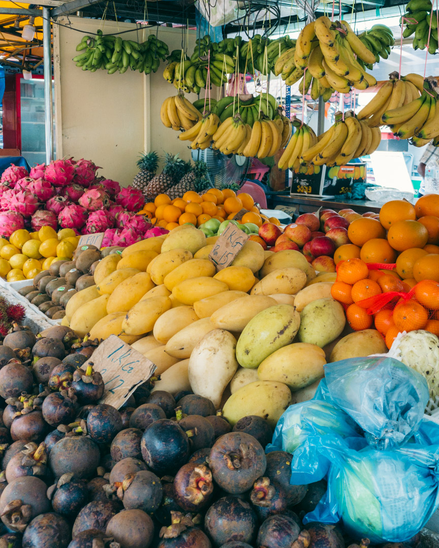 Fresh, exotic fruits are everywhere in Kuala Lumpur