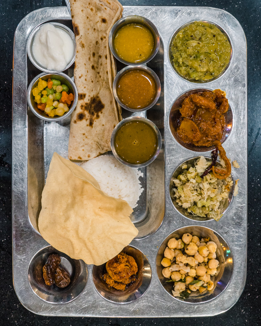 A vegan set menu full of Indian specialities